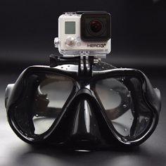 2017ホットプロフェッショナル水中カメラダイビングマスクスキューバダイビングシュノーケル水泳ゴーグル用のgopro xiaomi sjcamスポーツカメラ