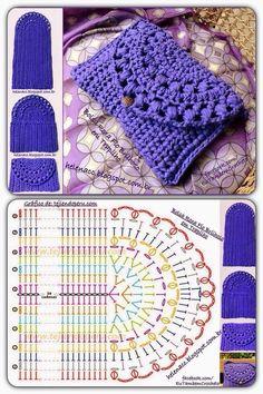 Kaleidoscope Mandala Bag Croch Discover thousands of images about Crochet purse pattern, only diagram , good enoughDiscover thousands of images about Monedero o bolsito tejido a crochet de una sola pieza piece crochet purse)!The prettiest crochet pur Crochet Shell Stitch, Crochet Motif, Diy Crochet, Crochet Doilies, Crochet Stitches, Crochet Amigurumi, Crochet Purse Patterns, Crochet Pouch, Crochet Bags