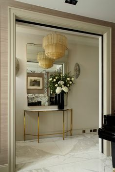 Gold Console Table Hall Contemporary with Arch Architectural Arch Black