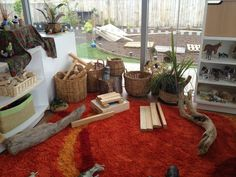 "'Preschool new Shoots Papamoa' - I love this construction area shared by Michelle Pratt via Childcare Designs ("",)"