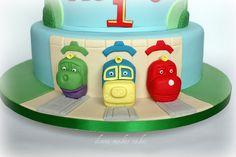 chuggington cake- coming out of the tunnels