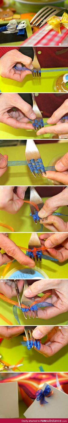 Picture tutorial to make Ridiculously tiny bows.