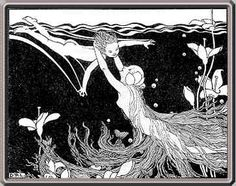 """Dorothy Lathrop illustration for the 1926 children's book """"Tales From the Enchanted Isles"""", by Ethel May Gate."""