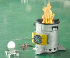 Camping Stove For Cooking With A 10 Watt Thermoelectric Generator Photo…