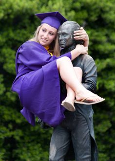 Graduation pose...this is jmu...should have taken the same picture with j maddy