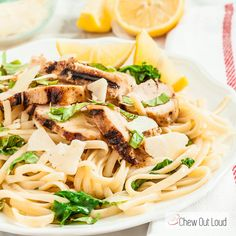 This Lemon Basil Chicken Linguine comes together in about 30 minutes, and tastes like you spent time on it! Refreshing, toothsome, and satisfying. Cooking Recipes, Healthy Recipes, Healthy Foods, Healthy Eats, Yummy Recipes, Yummy Food, Chicken Linguine, Lemon Basil Chicken, Weeknight Meals