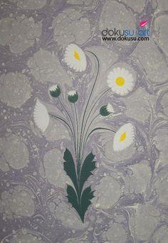 modern daisy marbling art (6)