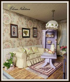 Room salon see more 68 9 elayne forgie dollhouse miniature room boxes