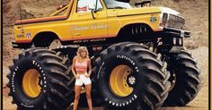 Ford Bronco - even a Monster truck photo can be improved with the right props.   Car show   Pinterest   Ford Bronco, Ford and Broncos