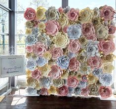 Our flower wall for the Event Industry Mingler. Thank you to everyone who stop by!