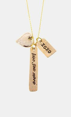 'love you more' necklace