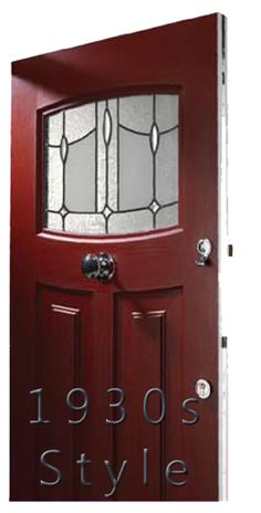 Ces windows on front doors doors and style for 1930s front door styles