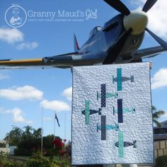 'Squadron Leader' baby quilt pattern by Granny Maud's Girl