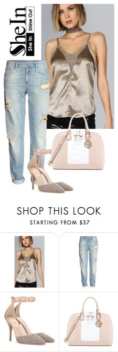 """""""Dorado"""" by yendry-mariela-garcia-perez ❤ liked on Polyvore featuring H&M, Valentino and GUESS"""
