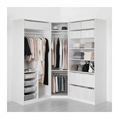 Read about the terms in the guarantee broch… IKEA PAX wardrobe 10 year guarantee. Read about the terms in the guarantee brochure. Closet Walk-in, Corner Closet, Closet Storage, Bedroom Storage, Closet Ideas, Wardrobe Ideas, Ikea Closet, Wardrobe Storage, Closet Shelves