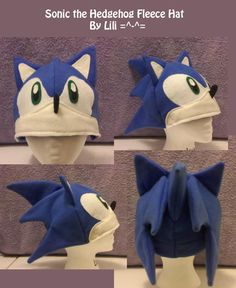 Sonic the Hedgehog Fleece Hat by *LiliNeko on deviantART