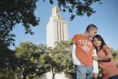 University of Texas engagement shoot
