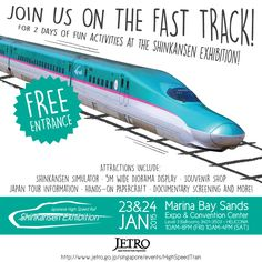 [EVENT] High Speed Rail Exhibition in Singapore - http://www.afachan.asia/2015/01/event-high-speed-rail-exhibition-singapore/