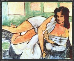 Reclining Nude in Arab Robe, 1941, by Henri Matisse (French, 1869–1954).
