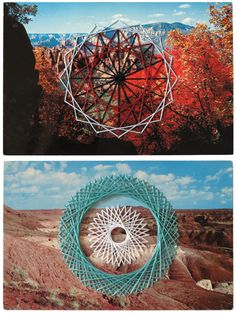 Embroidered Postcards by Shaun Kardinal