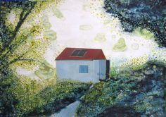 """Saatchi Art Artist Yukari Kaihori; Painting, """"Encounter in the woods  I"""" #art"""