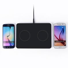 Qi Wireless Charger Double Transmitter Pad Dual charging Mat for iPhone SAMSUNG Galaxy S6 Edge/plus Note 5 Nokia LG Google Nexus #Affiliate
