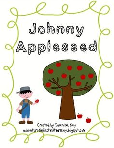 Johnny Appleseed Writing Papers with Anchor Chart idea.  adventuresinfirstwithmrskey.blogspot.com