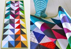 Michael Miller Cotton Couture: Triangle Color Block Table Runner | Sew4Home