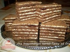 Hungarian Recipes, Hungarian Food, Fudge, Tiramisu, Bread, Baking, Cake, Sweet, Ethnic Recipes