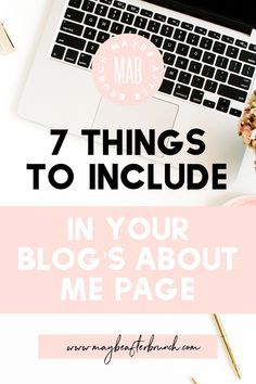 Your about me page is the perfect place for your readers to get to know you! Find out seven things to include on yours to grow a connection! Make Blog, How To Start A Blog, Make Money Blogging, How To Make Money, About Me Page, Blog Topics, Creating A Blog, Blog Writing, Planner