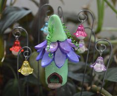 3 Glow In Dark Flower Lichterkette Laternen magische von sewaddictd