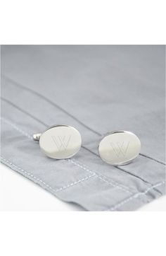 Free shipping and returns on CATHY'S CONCEPTS Personalized Oval Cuff Links at Nordstrom.com. Polished initial embellishments define handsome cuff links designed to set off your formal look.