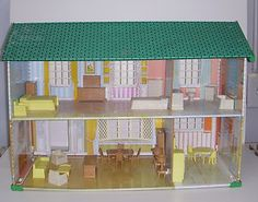 doll houses from the 1960's | Vintage 1960's Metal Doll House w Furniture Lot by Wolverine Made in ...