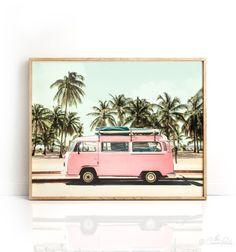 Boho decor VW Bus art PRINTABLE Art Horizontal wall art | Etsy
