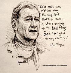 A good drawing of Jojhn Wayne.