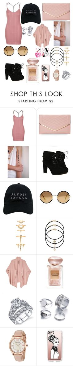 """ALMOST FAMOUS"" by tatiana-m-evans ❤ liked on Polyvore featuring Topshop, Sasha, TURNOVER, Nasaseasons, Sunday Somewhere, Luv Aj, Melissa McCarthy Seven7, Giorgio Armani, Anne Klein and Casetify"
