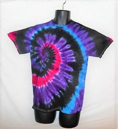 Medium Tie Dye T Shirt// Mystical Magic// black, purple, blue, pink tie dye// festival// hippy// trippy// colorful// unique// fun gift// by FarmFreshTieDyeStore on Etsy