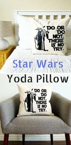 Star Wars Yoda Pillow - Star Wars Shoes - Ideas of Star Wars Shoes - Star Wars Yoda Pillow Yoda Pillow Star Wars Room Decor, Star Wars Bedroom, Star Wars Shoes, Star Wars Gifts, Diy Pillows, Plates On Wall, Kids Room, Bedroom Decor, Starwars