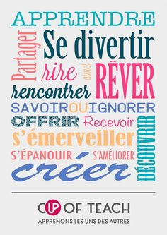 The Cup of teach poster ! French Words, French Quotes, Love Quotes, Inspirational Quotes, Quote Citation, Teaching French, Learn French, Some Words, Motivation