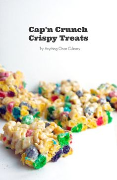 Cap'n Crunch Krispies Have you ever seen a krispie treat (the original rice krispie treat or one of the other cereal versions) and not thought much of it? That's exactly how I used to be. I had a very take-it-or-leave-it attitude when it came to krispie treats until I started getting requests for them. Once …