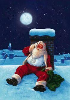 Winter, Christmas, and Holiday Christmas Scenes, Father Christmas, Vintage Christmas Cards, Santa Christmas, Christmas Pictures, Santa Baby, Dear Santa, Decopage, Photo Souvenir