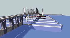 Afbeeldingsresultaat voor tidal bridge indonesia