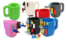 Build-On Brick Mug Coffee Cup DIY Creative Building Blocks Coffee Tea Beverage Masque Anti Pollution, Brick Material, Shopping Vouchers, Lego, Couple Gifts, Drinking Tea, Fun Activities, Gifts For Him, Coffee Cups