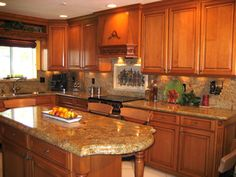 the best color granite countertop for honey oak cabinets kitchen