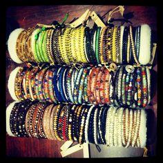 Chan Luu wrap bracelets. Colorful!