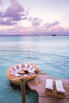 Floating chill-out jetty at Soneva Jani, the hottest new resort in the Maldives Last minute summer holidays www.hkoffers.com