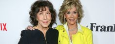 Lily Tomlin, left, and Jane Fonda. New Apple Watch, Apple Watch 42mm, Jane Fonda, Black Stainless Steel, Lily, Lilies