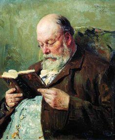 Портрет академика Ивана Ивановича Янжула. 1907. Маковский Владимир Егорович.