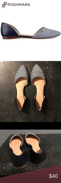 Tommy Hilfiger Naree D'orsay Striped Flats Sz 8 Size 8 | Gently Used Tommy Hilfiger Shoes Flats & Loafers