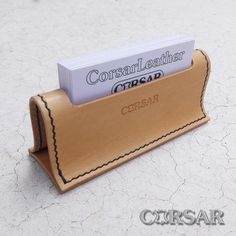 Handcrafted products made of genuine leather by CorsarLeather Leather Business Card Holder, Leather Key Holder, Diy Leather Projects, Leather Craft, Leather Tooling, Leather Wallet, Leather Bag Pattern, Leather Bookmark, Leather Accessories
